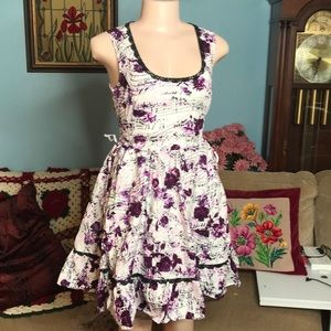 Hot Topic Musical Note & Purple Rose plunge dress